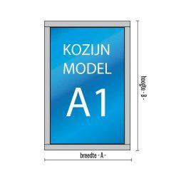 1- vaks kozijn Model – A1 met draairaam of uitzetraam