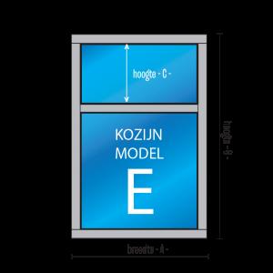 2-vaks vast glas kozijn type E - kozijnenman.com