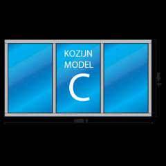kozijnenman.com houten kozijn 3-vaks type c