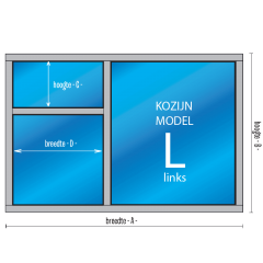 3- vaks Kozijn Model – L – links