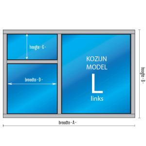 "3- vaks Kozijn ""Model – L – links"""
