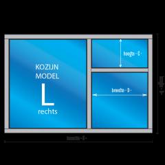"""3- vaks Kozijn """"Model – L – rechts"""""""