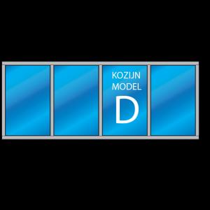 4- vaks kozijn Model – D