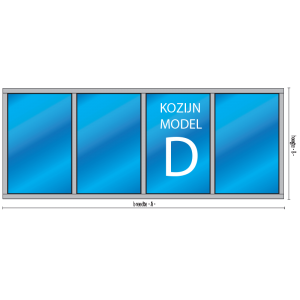 4-vaksvast glas kozijn type D - kozijnenman.com