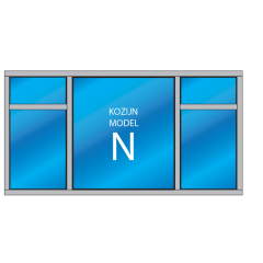 5- vaks kozijn Model – N