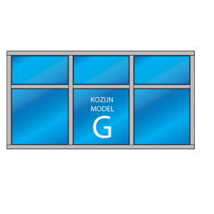 6-vaks kozijn Model – G