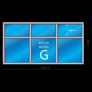 6- vaks kozijn Model – G met draairaam en/of uitzetraam