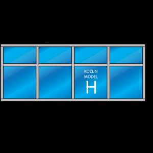 8-vaks kozijn Model – H