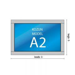 1- vaks kozijn Model – A2 met vast raam of uitzetraam