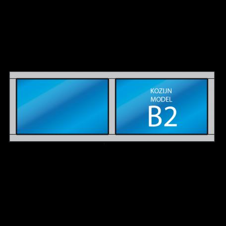kozijn hardhout model B2 - dekozijnenman.frl