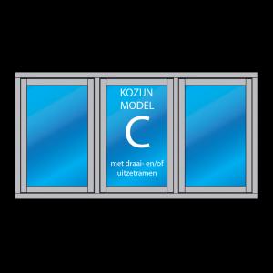 kozijn C met draai- en/of uitzetramen