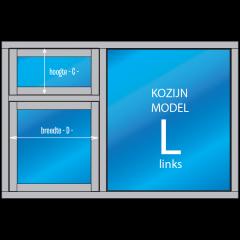3- vaks Kozijn met draai- en/of uitzetraam Model – L – links
