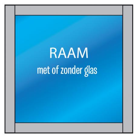 Super Los raamkozijn - De Kozijnenman - Houten kozijnen uit Friesland #QO32
