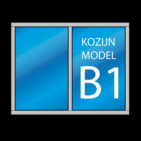 hardhout kozijn model B1 - dekozijnenman.frl