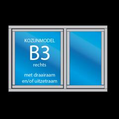 2-vaks kozijn B3 - uitzetraam, draairaam, vaste ramen - dekozijnenman.frl