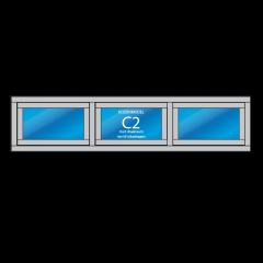 3- vaks kozijn Model – C2 met vast raam en/of uitzetraam
