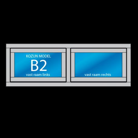 kozijn B2 met draai of uitzetraam