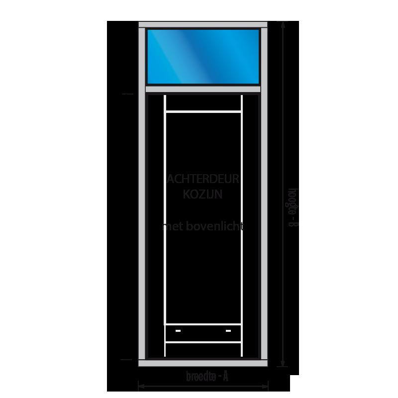 Magnifiek Achterdeur kozijn - hardhout kozijnen, raamkozijnen en kozijnhout ZV86