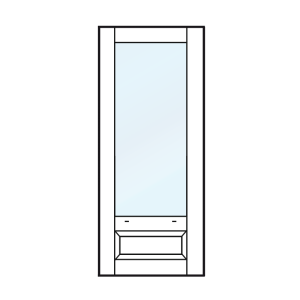 Achterdeur, tuindeur, balkondeur met bossingpaneel 500mm