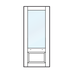 Achterdeur, tuindeur, balkondeur met bossingpaneel 660mm