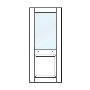 Achterdeur, tuindeur, balkondeur met bossingpaneel 920mm