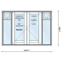 Eelkje 3 met borstwering 270, twee zijlichten, twee bovenlichten met raam en hardhout onderdorpel