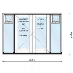 Eelkje 3 met borstwering 270, twee zijlichten, twee bovenlichten met raam en kunststof onderdorpel