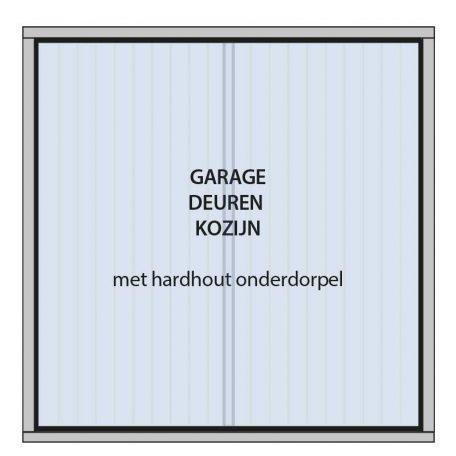 garagedeur kozijn met houten onderdorpel
