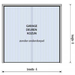 garagedeur kozijn zonder onderdorpel