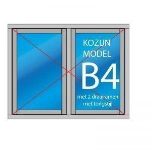 Kozijn met 2 openslaande ramen zonder tussenstijl