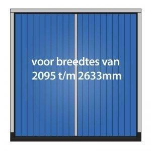 Houten garagedeuren met kozijn – max. 2633x2629mm