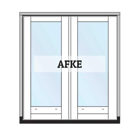 Afke - complete set tuindeuren met kozijn en glas
