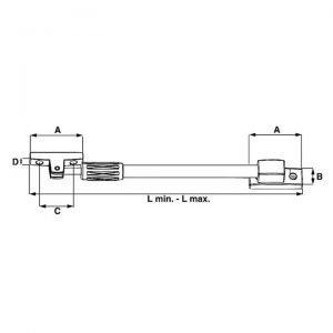 Tele-uitzetter 300mm / 335-465mm