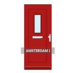 Voordeur Amsterdam 1 - zonder kozijn, raamhoogte 574mm