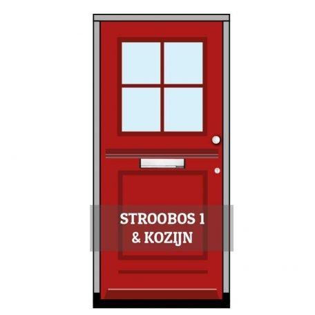 Voordeur Stroobos 1 incl. kozijn