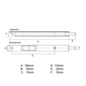 Kantschuif 20mm